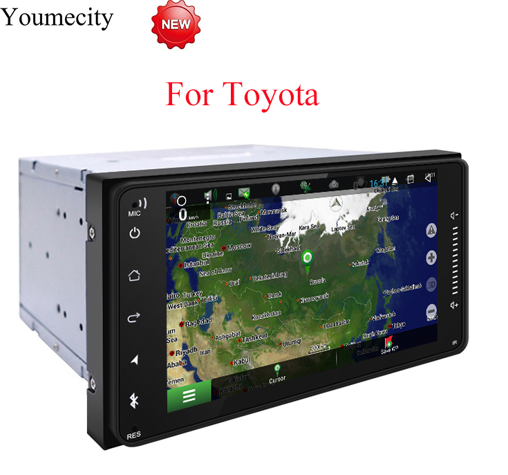 Youmecity 2G RAM Android 8.1 Car DVD Video Player GPS Radio for Toyota Ractis allion Camry Avensis Auris Prius Yaris highlander vodool 12v blue led car parking button switch with 150mm cable for toyota camry yaris highlander prius