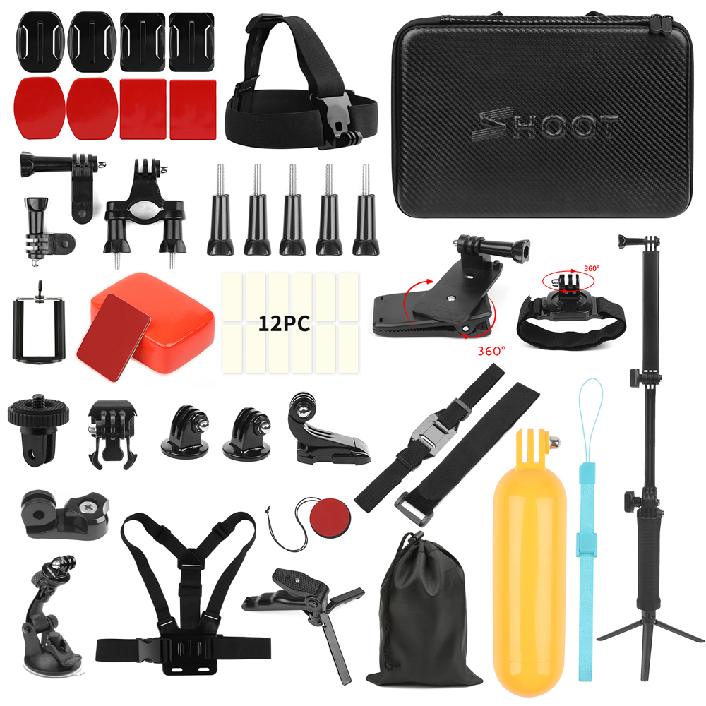 Shoot for GoPro Action Camera Accessories Set Monopod Mount Kits for - كاميرا وصور