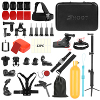 SHOOT for GoPro Action Camera Accessories Set Monopod Mount Set for Go Pro Hero 7 6 5 Xiaomi Yi 4K SJCAM SJ5000 SJ7 Eken H9 Cam