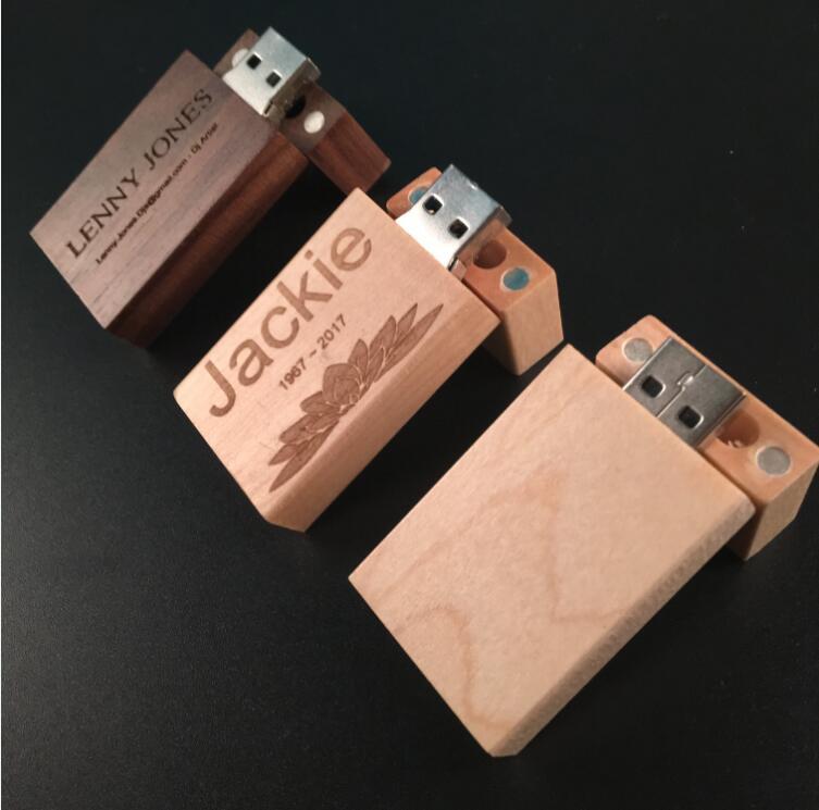 custom bamboo usb 2.0 thumb drive 16gb wooden usb flash ...