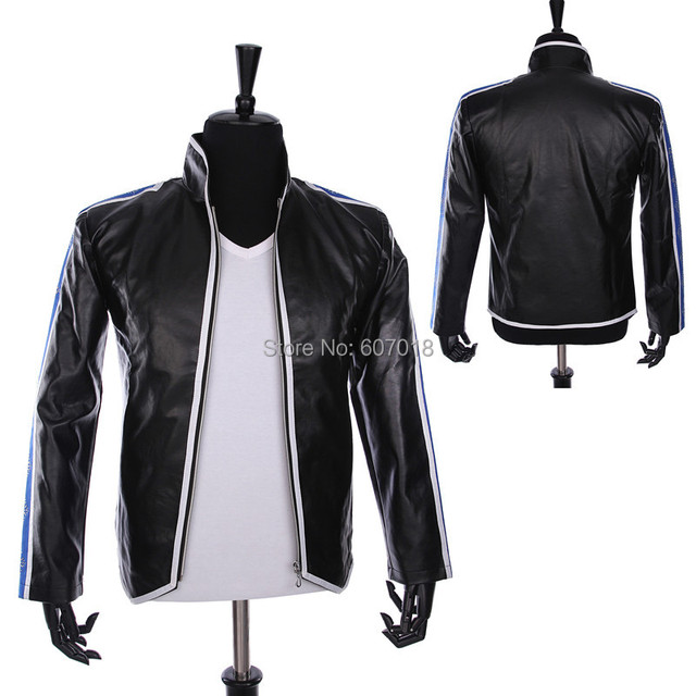Rare PUNK Rock Motorcycle Casual Classic MJ MICHAEL JACKSON Costume Heal The World Jacket For Fans Best Gift