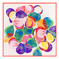 60cm * 60cm twill silk hand-painted geometric butterfly silk scarf ladies small square