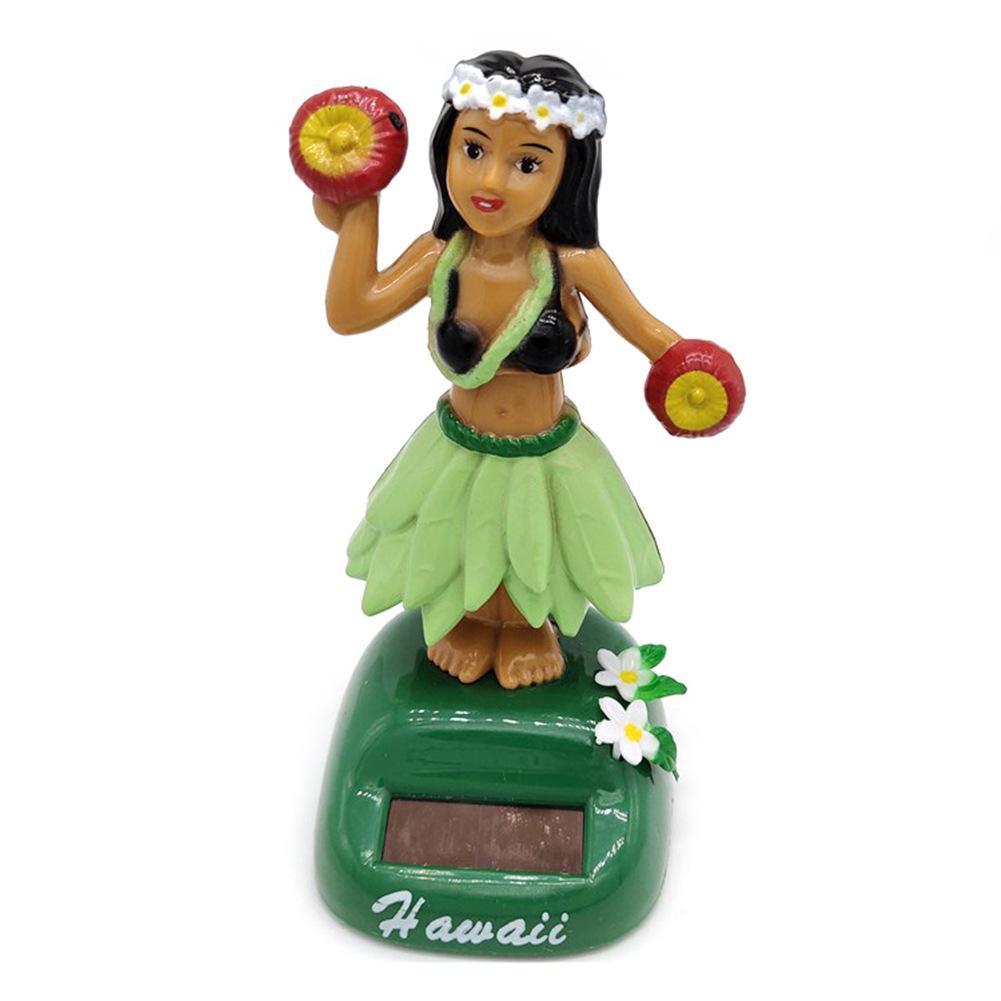 Солнечный танцующий Гавайский девочка хула качающаяся голова игрушка авто Интерьер декомпрессия приборной панели украшения автомобиля аксессуары для автомобиля - Цвет: F