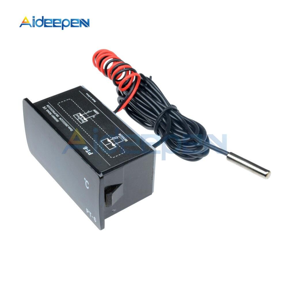 110 ℃ Thermometer Temperature Meter Aquarium Sensor 50 ℃ ~ PT-6 220V Digital