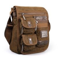 2018 Ruil Vintage Retro Canvas Shoulder Bags New Multifunction Man Leisure Tooling Messenger Package Retro school Handbag