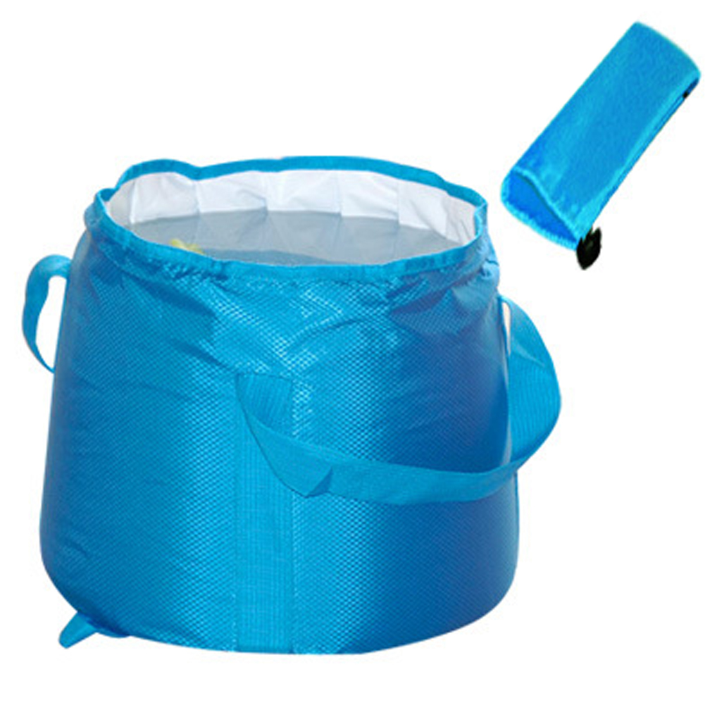 Venta caliente Cubo de agua plegable portátil al aire libre 20L y 12L Capacidad ultra grande Camping Senderismo Olla de agua Herramientas de baño Cuenca