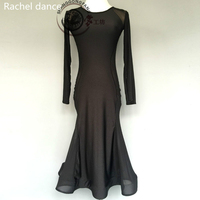 2017 Hot Black Latin Dance Dress Fringe Women Latin Dress Dancing Clothes Dancewear Dress Latina Salsa Latin Dance Costumes