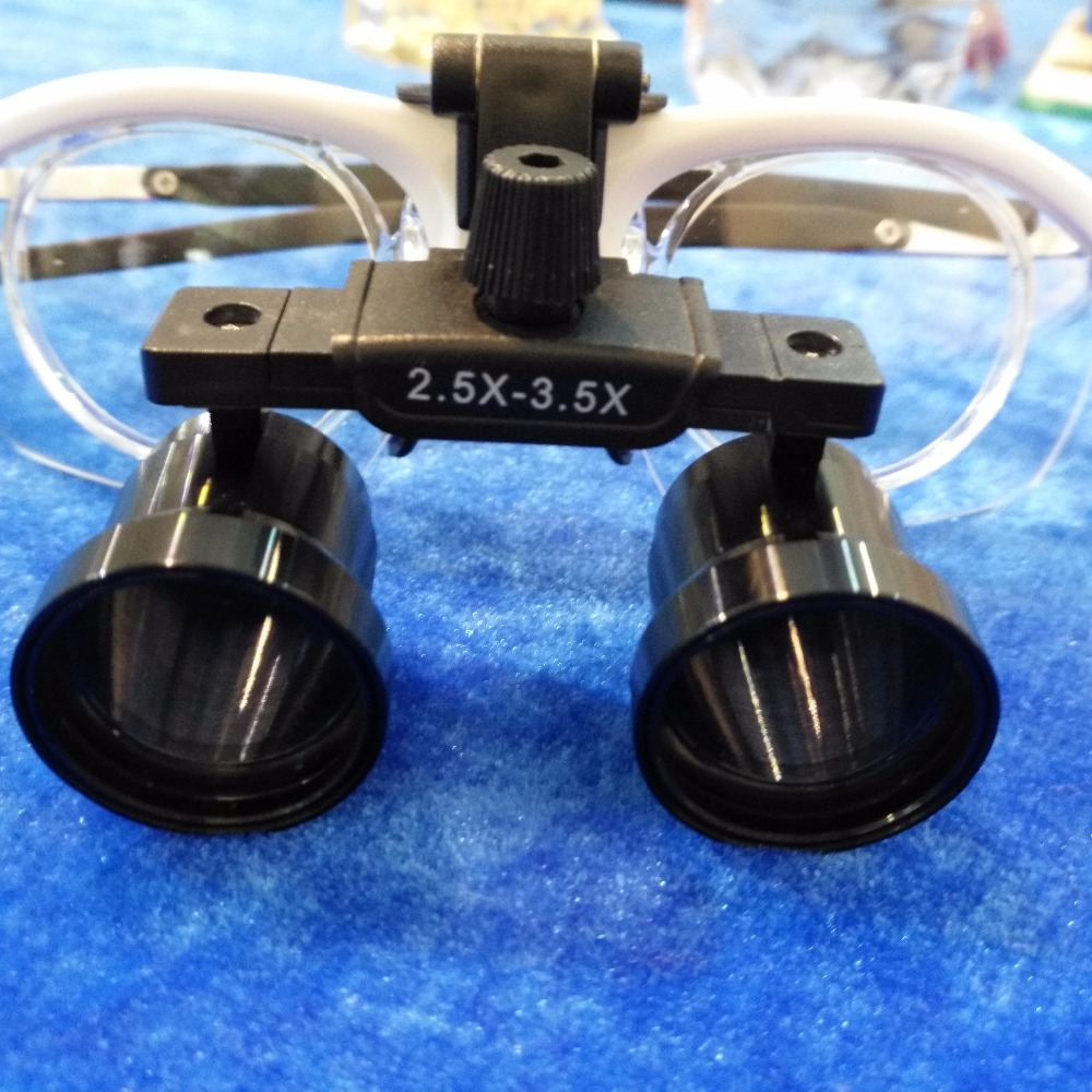 Good Quality Brand new Adjustable magnification from 2.5x to 3.5x Dental Loupes Magnifier with Surgical Magnifying Glasses