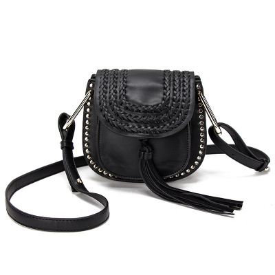 2018 women crossbody bags chic lady bag brand messenger handbags classic vintage tassel woven saddle weave single shoulder bag