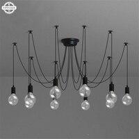 Retro Hanging Lamps E27 Edison Bulb DIY Pendant Lights Modern Nordic Fixtures Spider Ceiling Lamp Fixture