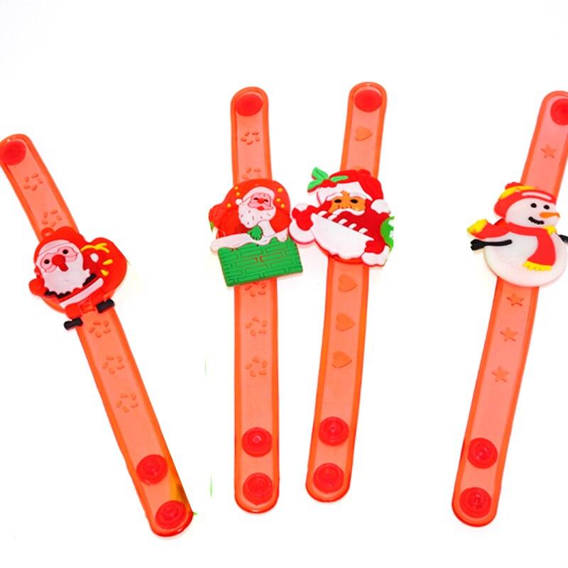 2018 100pcs Multicolor Led Light Bracelet Up Acrylic Bangle For Party Bar New Year ,christmas, Hot Dance Gift Christmas Toys