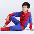 Cosplay Superman Batman Spiderman Pyjamas Long Sleeves Halloween Costume Sets Kids Cotton Pyjamas Sets Boys Girls Sleepwear
