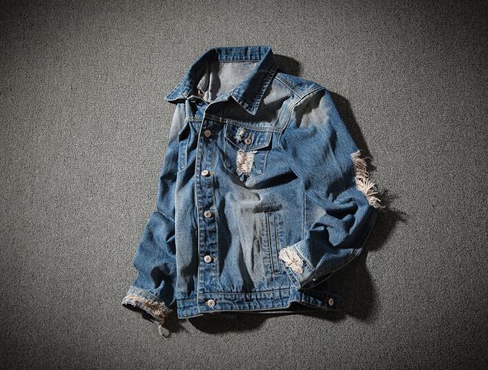 Hombres De Otoño Chaquetas Casual Y Denim M Primavera 2018 Chaqueta Sueltos Blue Agujero Los Rasgado 5xl Jeans Rlyaeiz Masculinos RTqdIq