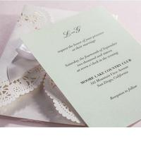50pcs Pack New Laser Cut Wedding Invitations White Ribbon Bowknot Flora Cards Personalized Wedding Favors Birthday