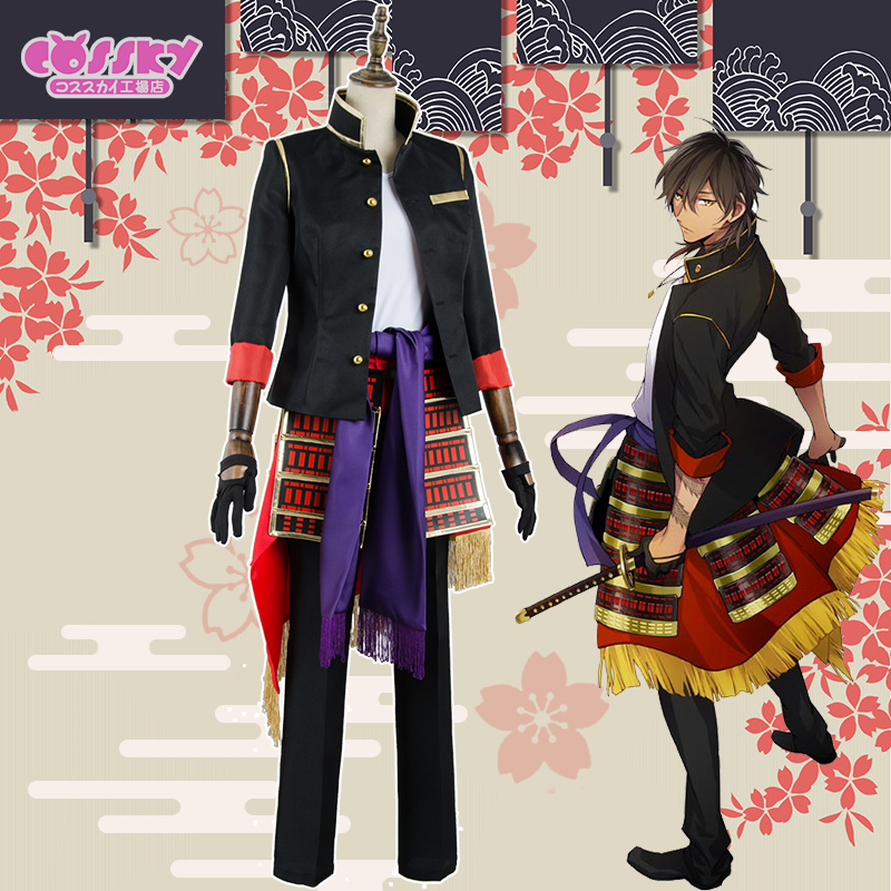 [STOCK]2018 Anime Touken Ranbu Online Oo Kurikara Battle Uniform Cosplay Custume Unisex Full Set For Halloween Free Shipping New