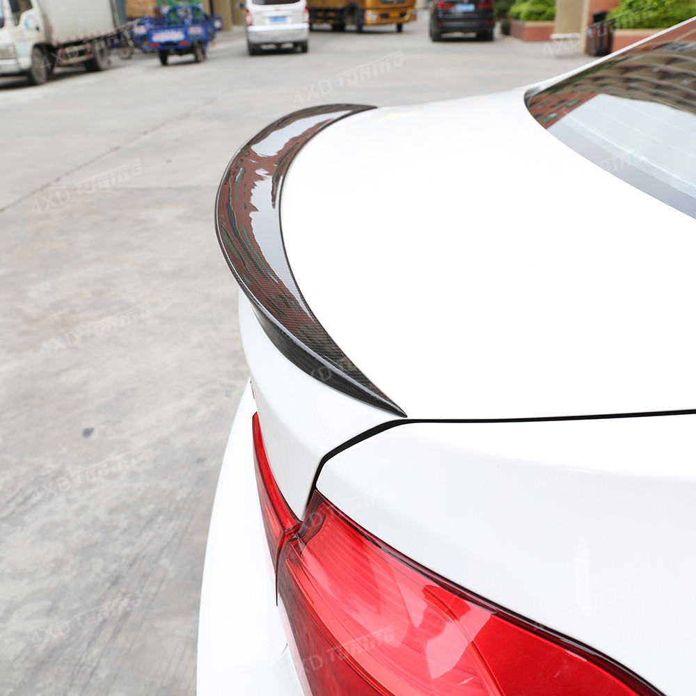 For BMW F30 Carbon Spoiler P Style 3 Series F30 316i 318i 320i 328i 335i& F80 M3 Carbon Fiber Rear Spoiler Rear Trunk Wing 2012+ m performance style carbon fiber rear trunk wing spoiler for bmw 3 series f30 2012 2018 318i 320i 328i 330i 335i