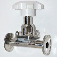 Высокое Quality45MM 1 — 3/4 » санитарный фитинг мембранный клапан зажим нержавеющая сталь SS SUS 316