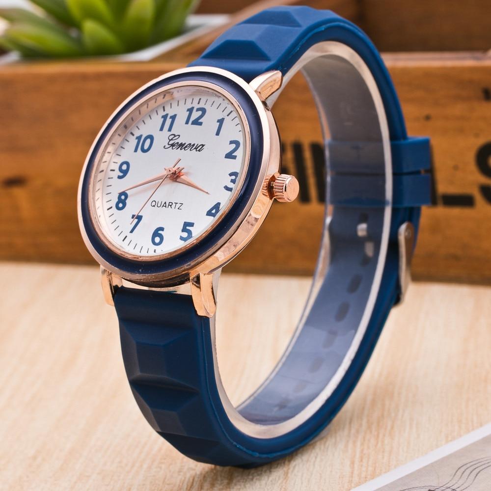 2018 Fashion Cream Color Ultra-thin Fashion Gift Silicone Strap Leisure Watch Geneva Sport Wristwatch Women Jelly Watches @F