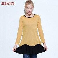M - 5XL plus size cotton dress long sleeve women casual mini dresses autumn clothing female middle age mom hot sale large size