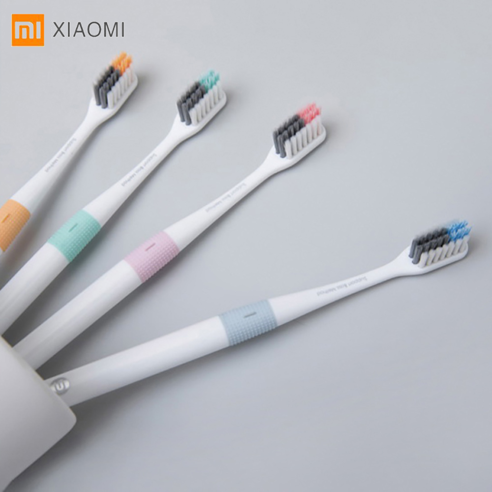 Xiaomi DOCTOR-B cepillo impermeable portátil 4 unids/set limpieza profunda cepillo de dientes Oral higiene cepillo de dientes para adultos viajes hogar