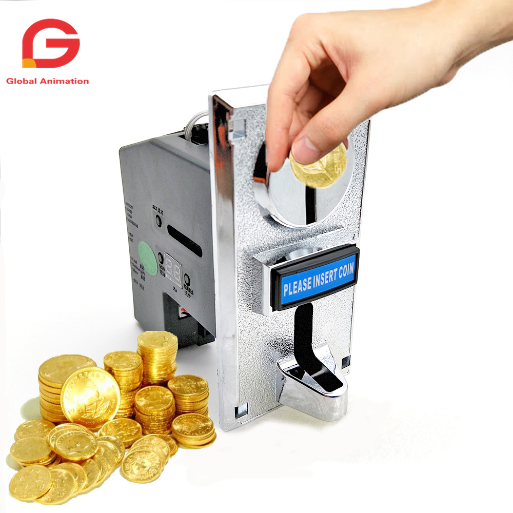 6 Kinds Different Coins Multi Coin Selector Acceptor for Arcade Video Games Vending Machine Part Support Multi Signal Output