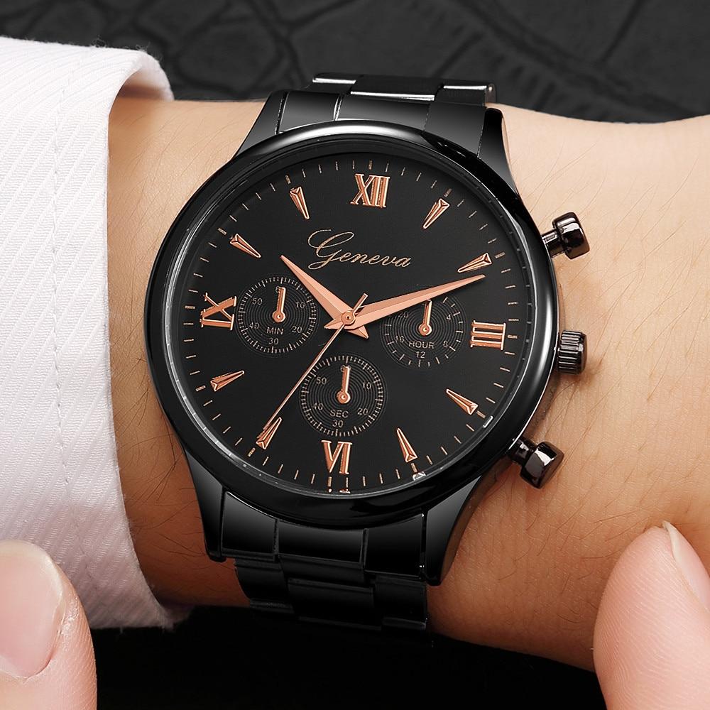 Man Watch Luxury Fashion Stainless Steel For Quartz Analog Wrist zegarek meski Mens Watches Top Brand Luxury erkek kol saati