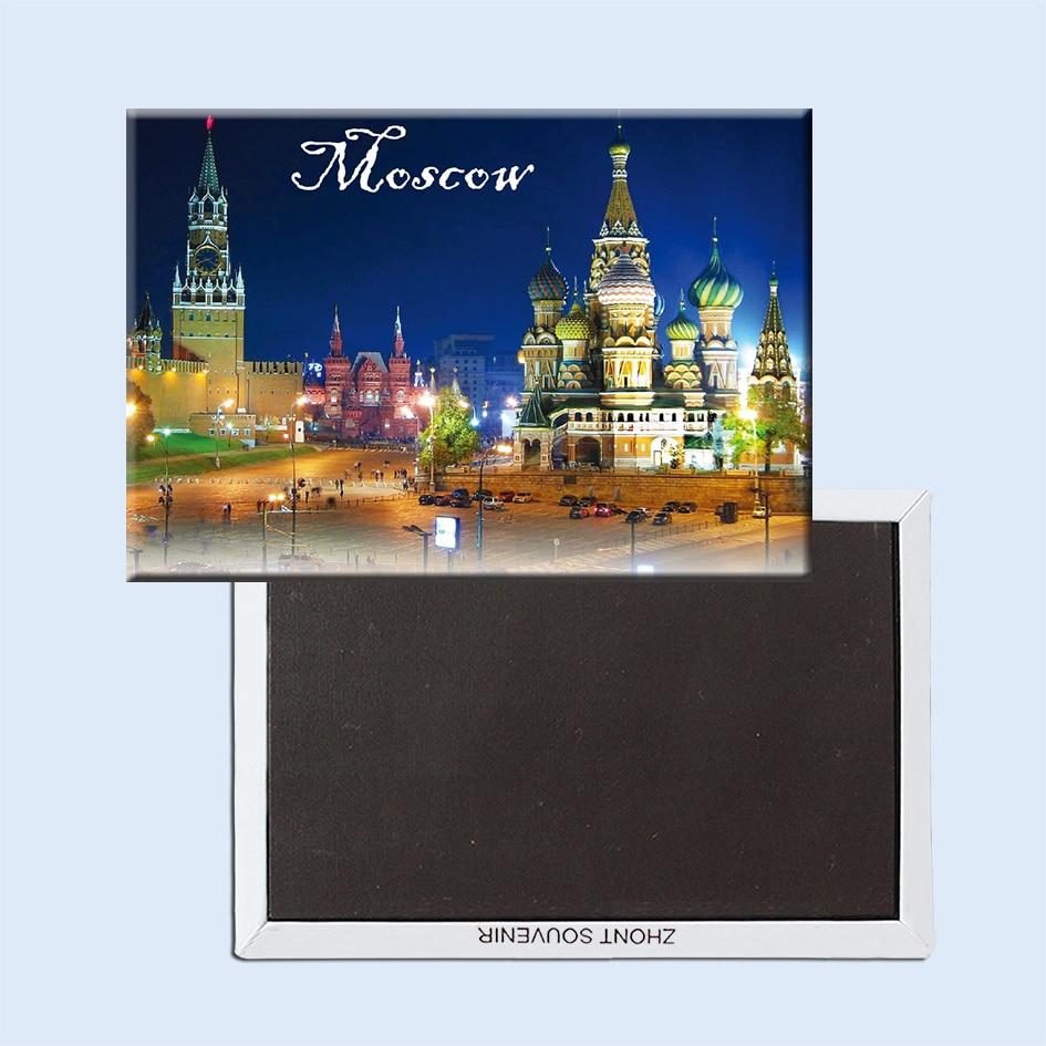 Magneți de frigider din Moscova 21619 Atracții turistice din Piața Roșie