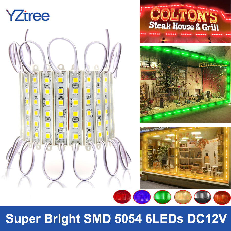 Super bright IP65 Waterproof 5054 SMD White//Red//Green LED Module Light Lamp DC12