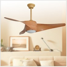 LED 110V-240V Retro decorative ceiling fans energy efficient with remote control Home Decoration Fan Restaurant