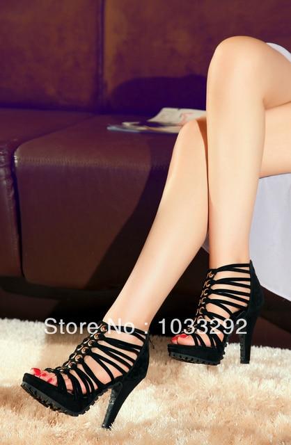 d22bc8de0b0e5 Women s High Heels Sexy Strappy Peep Toe Stiletto Pumps PARTY SHOES  Platform High HEELS black size us 4 5 6 7 8 9