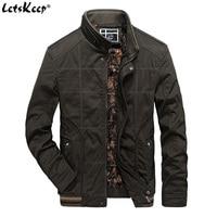 LetsKeep Tactical Military Jacket Men Winter Army Green Fleece Jacket Casual Loose Mens Windbreaker Jackets Coat