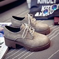 British Style Fashion Vintage Leather Casual Shoes Platform Women Shoes With Suede For Adult c79 15