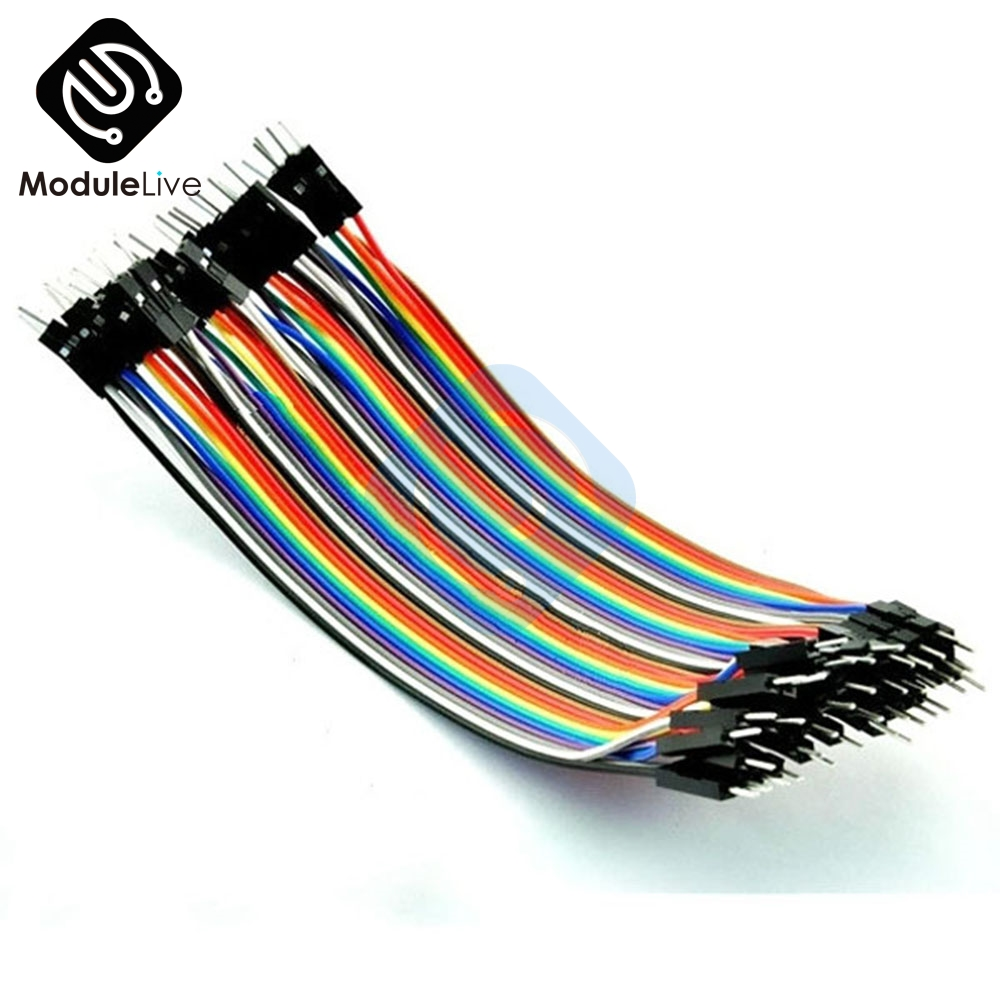 40pcs 2.54mm 10cm Female to Female Jumper Wire Cable 1P-1P For Arduino