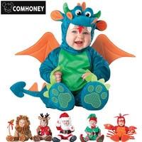 Baby Romper Newborn Bebe Clothes Funny Anmial Pirate Dinosaur Penguin Santa Claus Carnival Christmas Halloween Costume