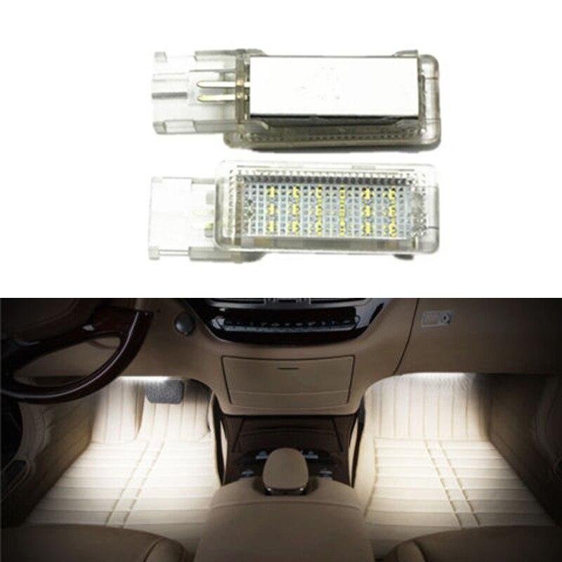 Für VW Golf 5/6 Golf Plus Jetta Passat CC EOS Scirocco Tourage Sharan LED Auto fußraum licht canbus kein fehler code auto zubehör