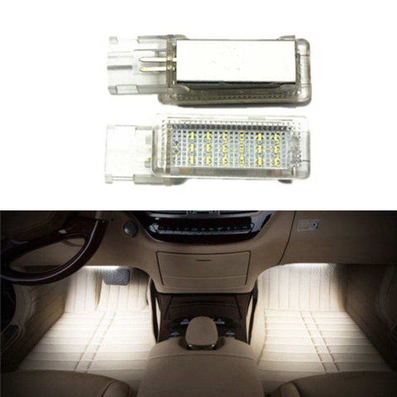 For VW Golf 5/6 Golf Plus Jetta Passat CC EOS Scirocco Tourage Sharan LED Car footwell light canbus no error code auto accessory no error car led license plate light number plate lamp bulb for vw touran passat b6 b5 5 t5 jetta caddy golf plus skoda superb