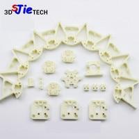 Plastic molding parts kit Kossel fisheye pulley/ rail line version corner/carriage kit for DIY Kossel Delta 3D printer