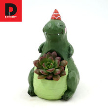 Dehomy European Diy Micro-landscape Flower Pot Multi-meat Plant Dinosaur Multi-flower Pot Office Resin Ornament Flower Pot