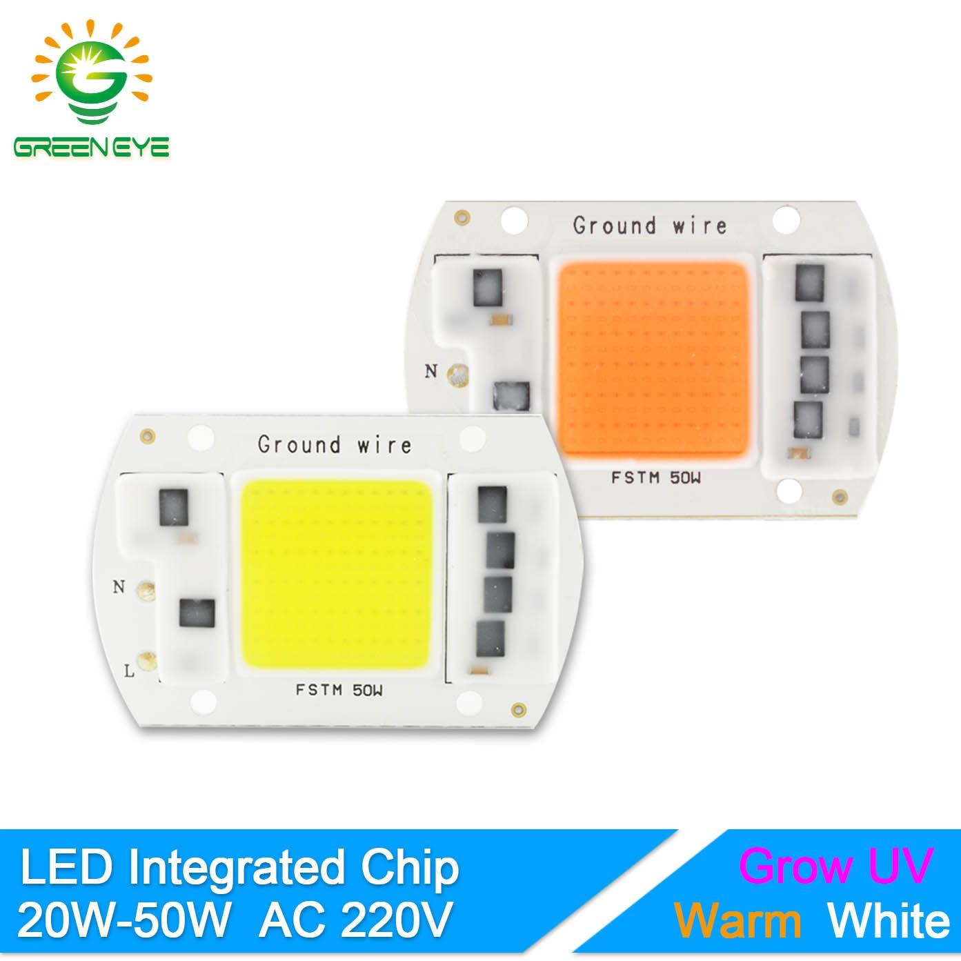 GreenEye Integrated LED Grow Light Chip Full Spectrum 220V 20W 30W 50W Flower Plant Greenhouse Vegetable Spot Flood Lamp Bulb