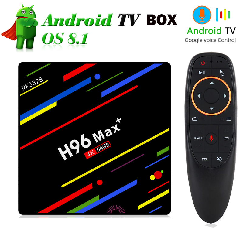 NEW Android 8 1 TV Box H96 MAX Plus 4GB 32GB 64GB RK3328 Quad core 2