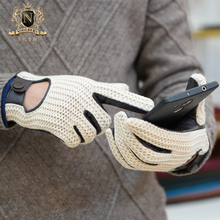 Latest Man Touchscreen Leather Gloves Knitted Autumn Winter Thin Non-Slip Motorcycle Male M109