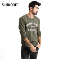 SIMWOOD New Spring Winter Fashion Brand Hoodies Men Casual Plus Size Pullovers Sweatshirts Letter Print Brand