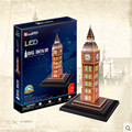 Cubicfun DIY Puzzle 3D LED L501h London Big Ben Model Creative Handmade Puzzle Christmas Gifts Birthday Gift Toys For Collection
