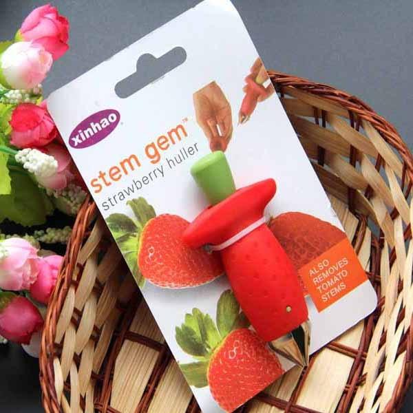 Новые Клубничные очистители металла+ пластиковые фрукты удаления стебли устройства томатные стебли клубничный нож для удаления стебля фруктов слайсер