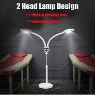 Hot LED Magnifying Floor Lamp 48W 5 Wheels Rolling Base 5x Diopter Adjustable Gooseneck Magnifier Glass Len Facial Light
