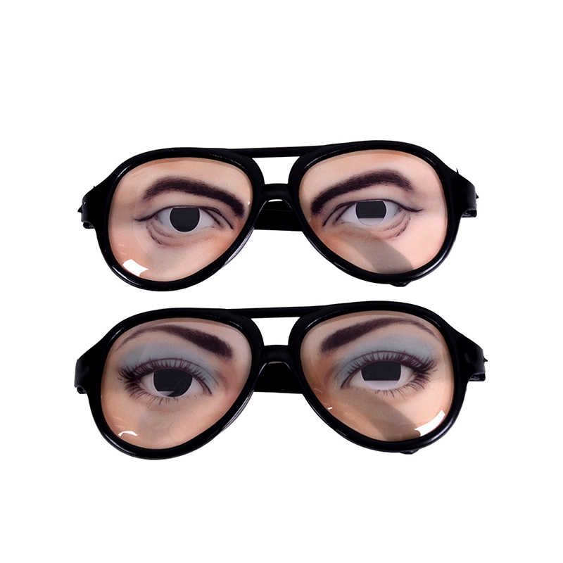 HALLOWEEN PARTY Funny Glasses Fake Novelty Gag Prank Eye Ball Joke Toy New ME59