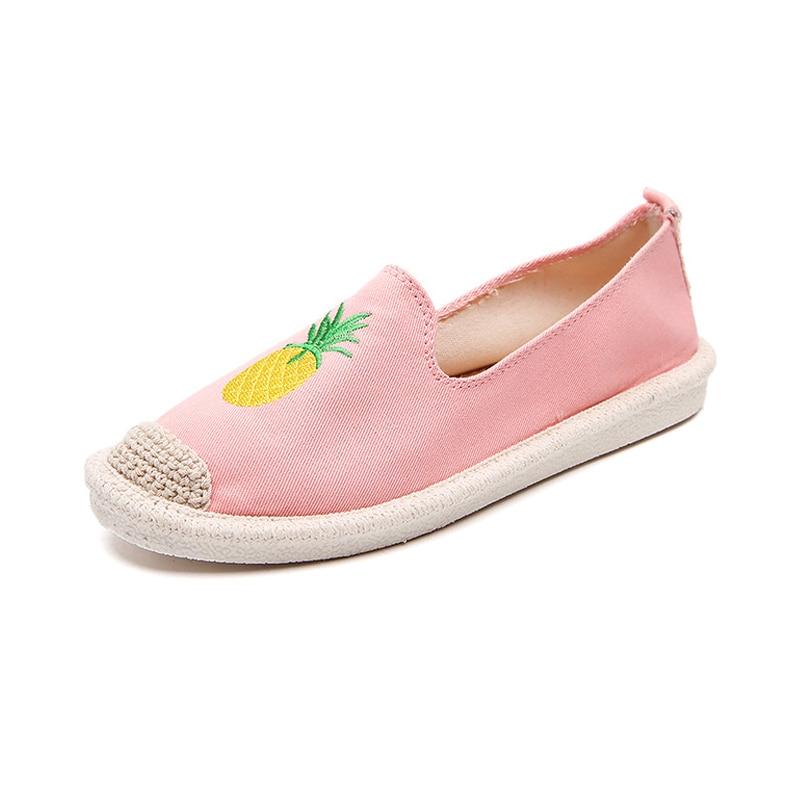 negro Moda On De Transpirable azul Bs88 rosado Lona Casual Beige Para Zapatos Mocasines Planos Mujer Slip Par Chica 1 Bv8xaa