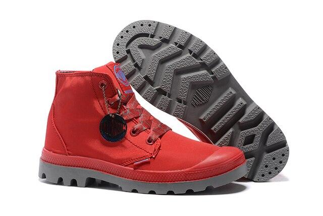 e44ca576d14 PALLADIUM Vrouwen Baggy Lage waterdichte Soldaten Laarzen Canvas Casual  Schoenen Rode Sneakers Vrouwen Laarzen Maat 36