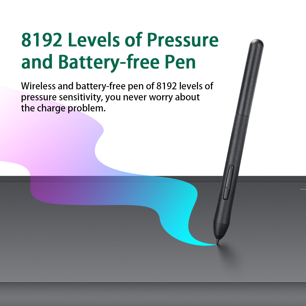 Image 4 - Parblo A610 S 10 x 6  Professional Graphic Tablet Digital Art Drawing Tablet 8192 Levels Pen Pressure+Two finger Glove-in Digital Tablets from Computer & Office