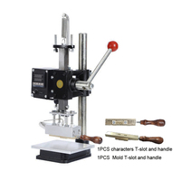 T Slot Hot Foil Stamping Pressure Mark Logo Machine 5 10cm Manual Bronzing Machine For PVC